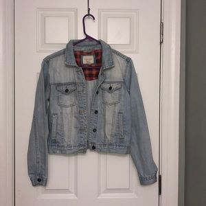 forever 21 denim studded jacket/ size small